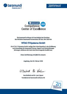 Competence Center of Excellence Zertifikat 2020