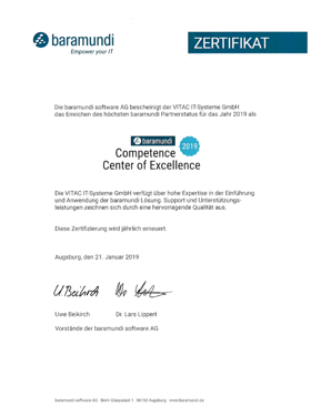 Competence Center of Exellence Zertifikat